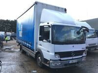 MERCEDES 816 CURTAIN SIDE TRUCK 2008 AUTOMATIC, DRIVES 100% LARGE HISTORY FILE