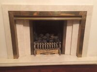 Beautiful fire with elegant brass grate. Must go by end October '16