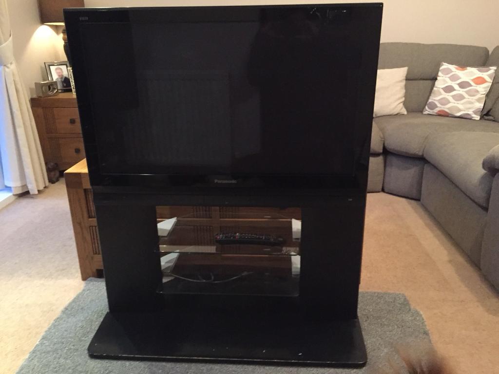 "Panasonic Viera 37"" plasma tv and intergrated stand"