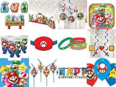 burtstag Kerze Ballon Banner Tischdecke Cupcake Armbänder (Super Mario Geburtstag Banner)