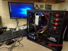 Gaming PC, Intel 8 core HT CPU, 32GB RAM, 250 SSD, 1TB HDD, ATI R9 290 4GB, Faster than i7-7700k