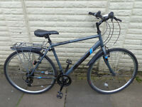 mens apollo hybrid bike, new lights, serviced d-lock ready to ride can deliver