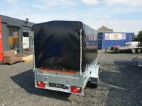 BRAND NEW MODEL 8.7 x 4.2 SINGLE AXLE WITH 150CM COVER AND FRAME TRAILER 750KG