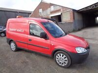 2005 VAUXHALL COMBO VAN 1300 TURBO DIESEL RED 12 MONTHS M.O.T