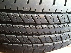 Rav4 Tyre with 7mm tread 225/65/17R needed three so bought four and this tyre was too good to toss.