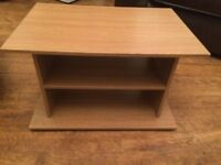 Wood effect TV stand