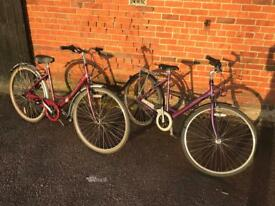 Ladies Raleigh Caprice Town Bikes. Serviced, £100each, Free Lock, Lights, Delivery