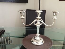 Silver Plated Candlelabra