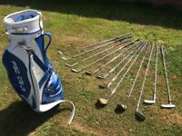 Pro Drive Golf bag and 12 Clubs