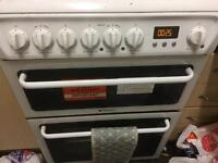Hotpoint cooker, Double Fan Assisted Oven, Ceramic Hob with 9 years warranty remaining