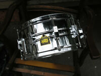 10-lug vintage chrome snare drum, 14 x 6-1/2 by Juggs USA