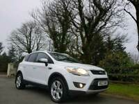 FROZEN WHITE FORD KUGA 2.0 TDCI ZETEC 4 WHEEL DRIVE