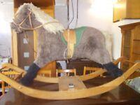 A large rocking horse