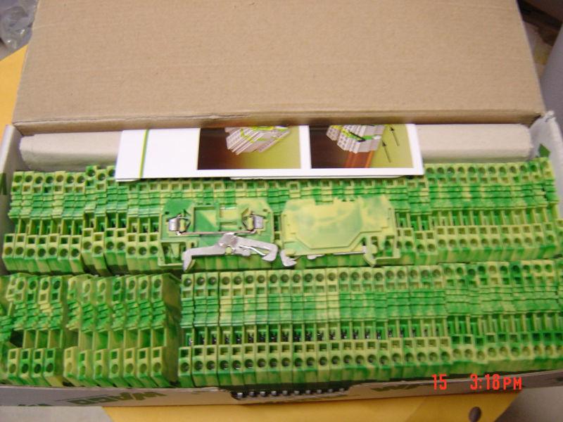 Qty (10) Wago 2 Pos. Terminal Blocks, Din Rail 280-907, Lot of 10 Pieces