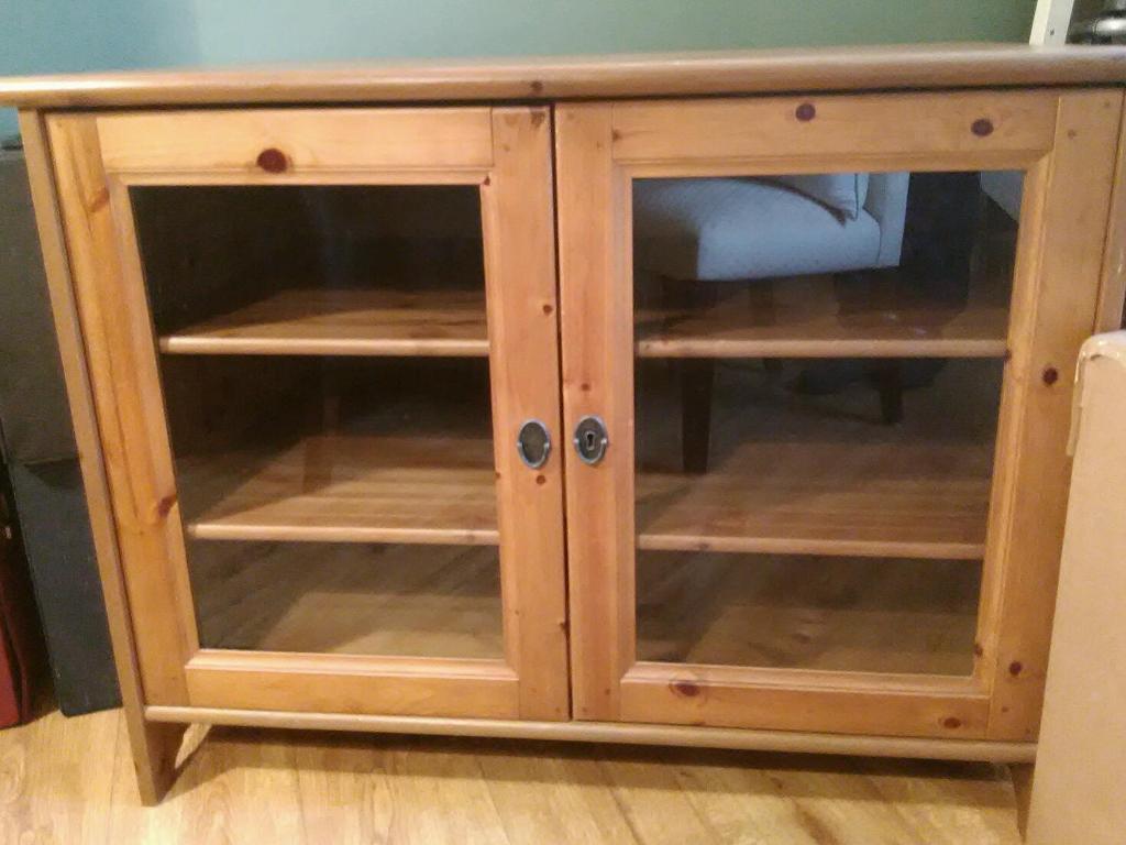 ikea 39 leksvik 39 tv cabinet in ammanford carmarthenshire. Black Bedroom Furniture Sets. Home Design Ideas