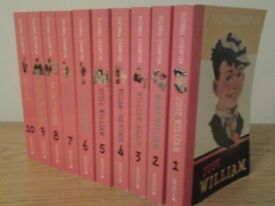"""""""Just William"""" set of 10 books, very good condition"""