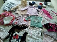 Bundle clothes baby girl 9-12m