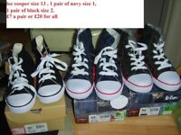 lee cooper canvas shoes/high tops from a smoke and pet free home £7 a pair or £20 for all