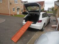 As new, lightweight softwood dog ramp