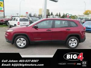 2015 Jeep Cherokee Sport, 4Cyl, Bluetooth, FWD, PRICE DROP!!!