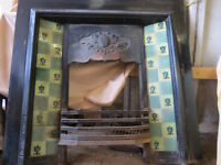 VICTORIAN STYLE TILED FIRE SURROUND