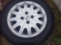 Ford alloy wheels with good tyres