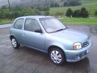 2002 NISSAN MICRA S 1.0ltr AUTO