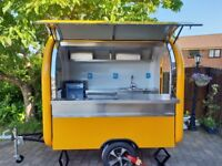 Mobile Catering Trailer Burger Van Hot Dog Ice Cream Sweets Coffee Cart Ready For Collection