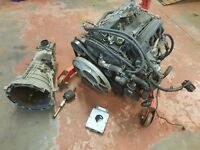 Ford transit 2.4 complete engine with ecu and gearbox 90ps