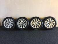 Vauxhall Astra J new shape alloy wheels with brand new tyres 2010 2011 2012 2013 2014 2015 2016