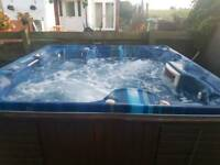 6 seater spaform hot tub