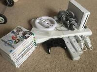 Wii, 10 games and accessories