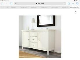 White Solid Pine Sideboard Hemnes Ikea