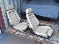 Kit car tan cream leather sports bucket seats - 80s BMW Recaros