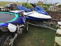 Yamaha yz 125 road legal , with a 250cc engine road registered