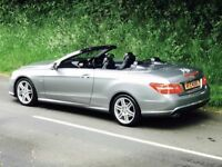 MERCEDES E220 CDI SPORT BLUE-EFFICENCY AUTO AMG CONVERTIBLE CABRIOLET TRADE IN OK, CREDIT CARDS OK