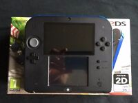 Black Nintendo 2DS with Mario Kart and Pokemon (Plays 3DS Gsmes)