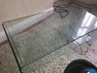 Solid glass table
