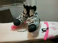 Nike ice hockey skate boots with blade guards