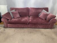 4 seater sofa and 2 snuggle chairs