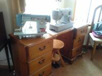 sewing machines & all assessories.
