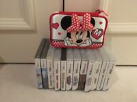 Nintendo DS lite, case and 12 games