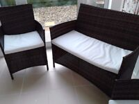 Rattan Garden/Conservatory/outside/indoor set with matching table