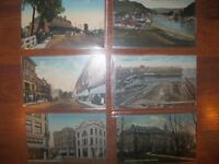 lot18 timbres,anciennes cartes postales du quebec (450)4496658