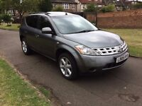 Nissan Murano 3.5 V6 X-Tronic CVT, SAT NAV,LEATHER SEATS,6 MONTHS FREE WARRANTY,FULL SERVICE HISTORY