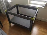Brand new travel cot / BabyStart Travel Cot - Grey and Green / Dalston, London