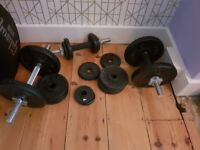 York Fitness Cast Iron Dumbell Spinlock (3) 40kg of weight
