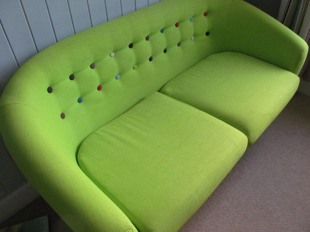 2 Seater Small Tub Sofa Lime Green In Yeovil Somerset