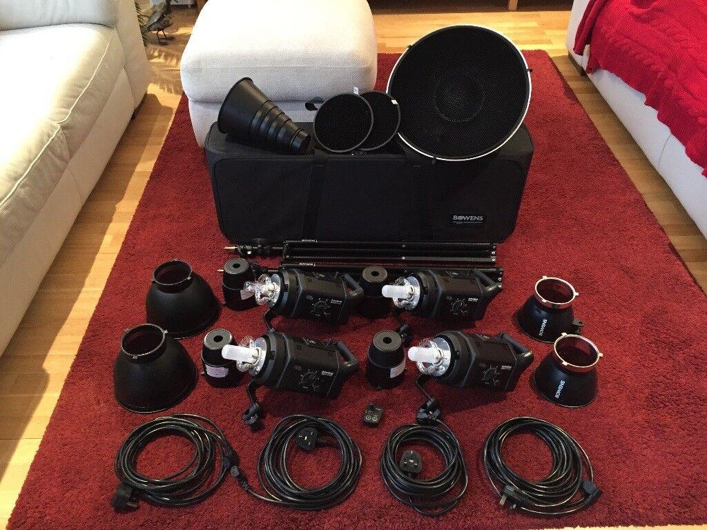 4 x Bowens Gemini 400Rx Studio Flash Head Kit complete