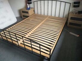 Ikea King Size Metal Bed Frame - Excellent Condition